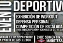 Evento Deportivo (Exhibición de Workout / Defensa Personal / Competición de Escalada)